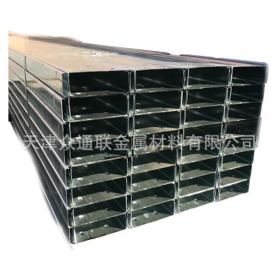 天津Q235B热镀锌C型钢 国标冷弯冲孔C型钢 檩条光伏支架C型钢