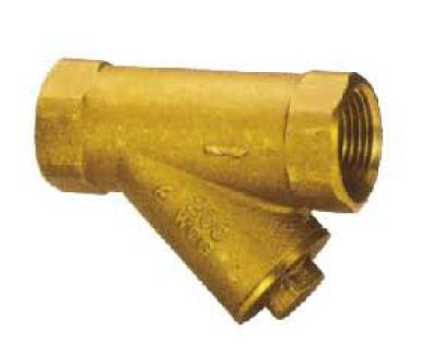 黄铜丝扣Y型过滤器