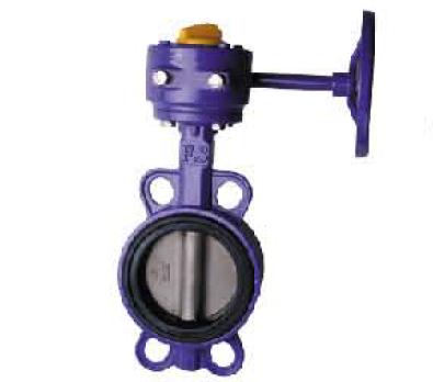 空压专用铸钢涡轮对夹蝶阀